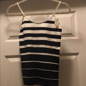 Black and White Striped Cami